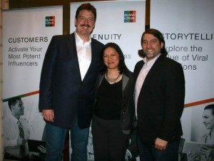 L-R: Myself, Altimeter Group's Charlene Li, and LinkedIn's Mike Weir take a break before rocking a customer Q&A.