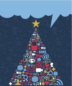 Nothing says holiday magic like smartphones, emails and hashtags. (Thinkstock)