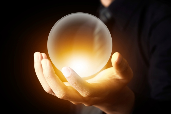 Our Crystal Ball of Buzzwords predicts equal amounts of innovation and disruption next year. (Thinkstock)