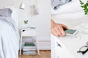 Ikea furniture with wireless charging
